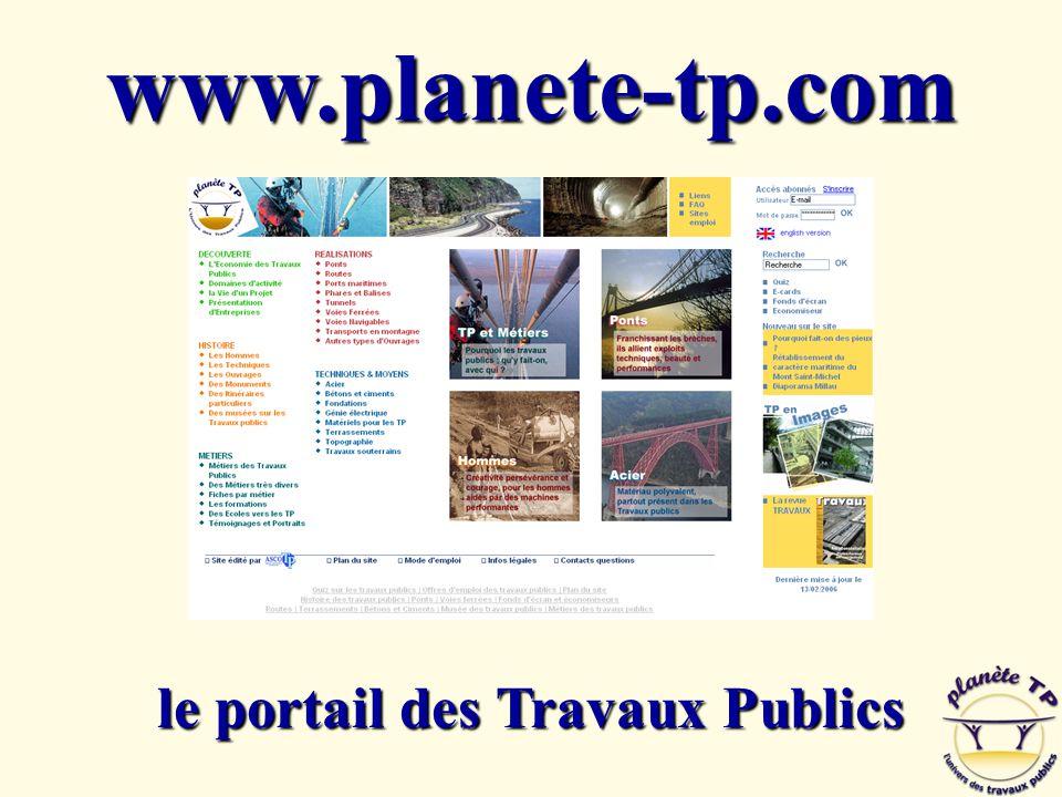 Page de garde www.planete-tp.com le portail des Travaux Publics
