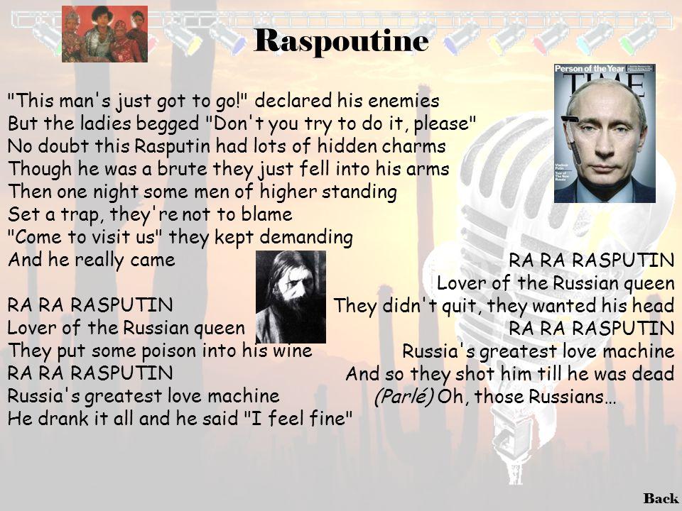Back Raspoutine