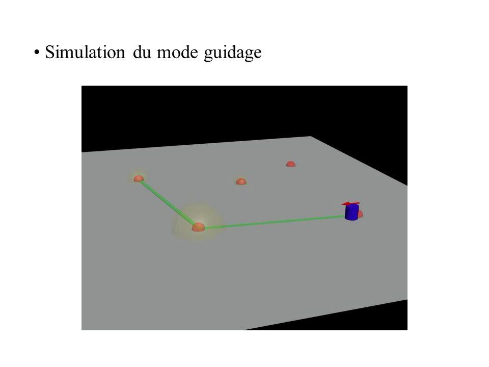 • Simulation du mode guidage
