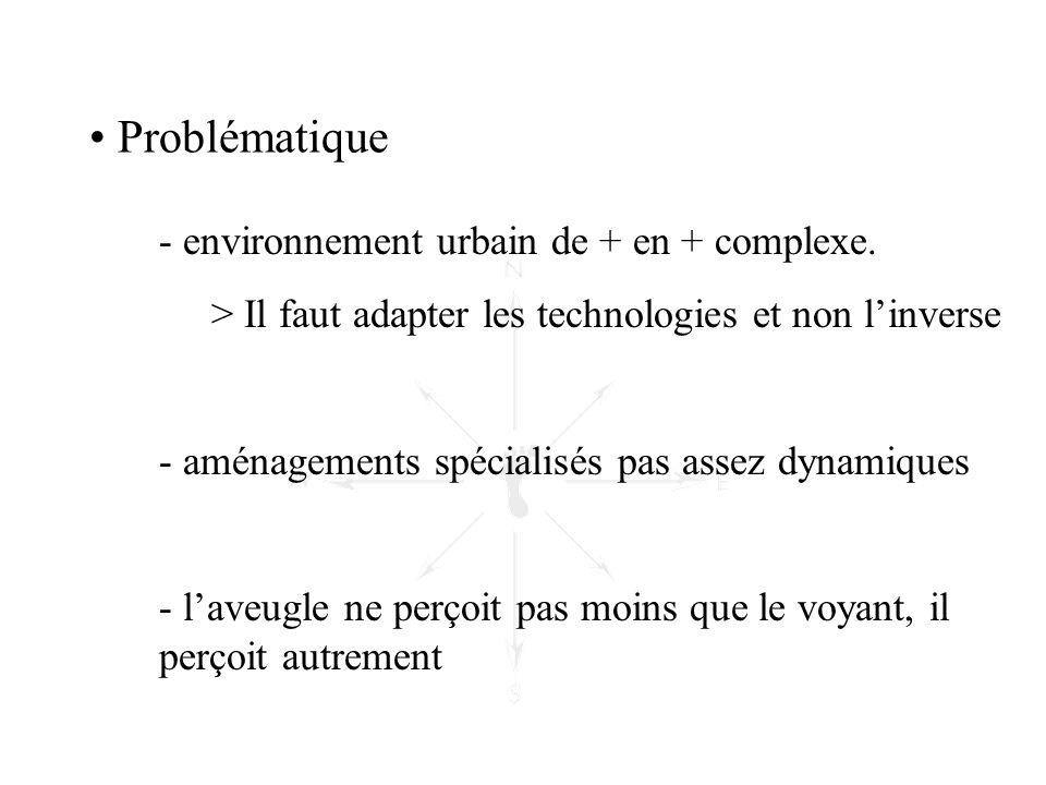 - environnement urbain de + en + complexe. > Il faut adapter les technologies et non l'inverse - aménagements spécialisés pas assez dynamiques - l'ave