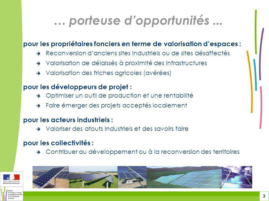 3 … porteuse d'opportunités... pour les propriétaires fonciers en terme de valorisation d'espaces :  Reconversion d'anciens sites industriels ou de s