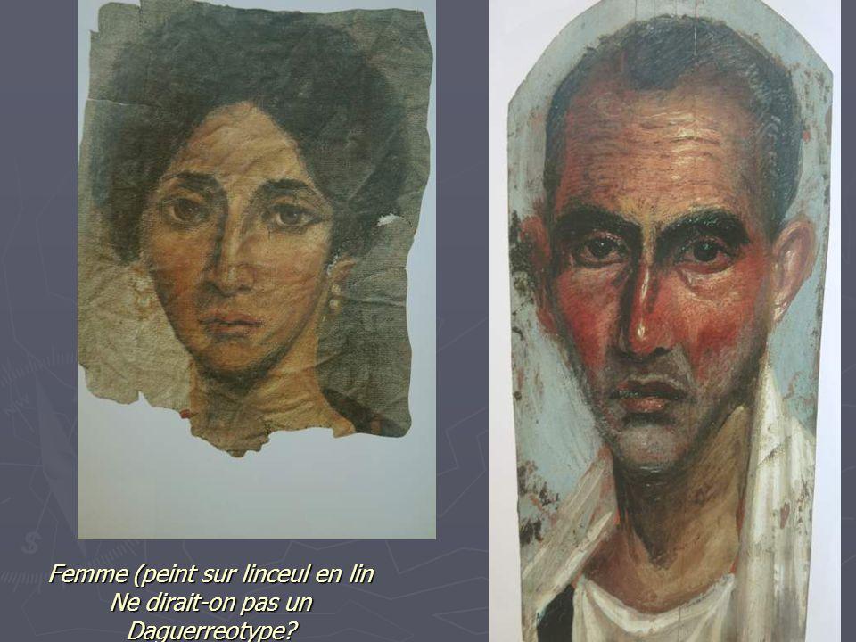 Femme (peint sur linceul en lin Ne dirait-on pas un Daguerreotype?