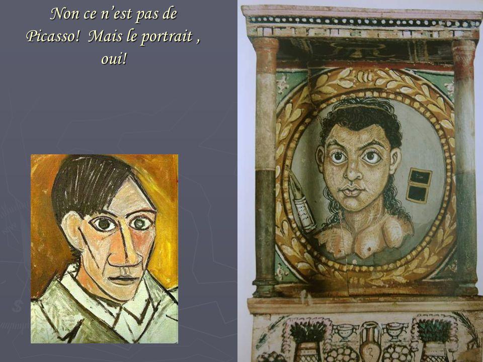 Non ce n'est pas de Picasso! Mais le portrait, oui!