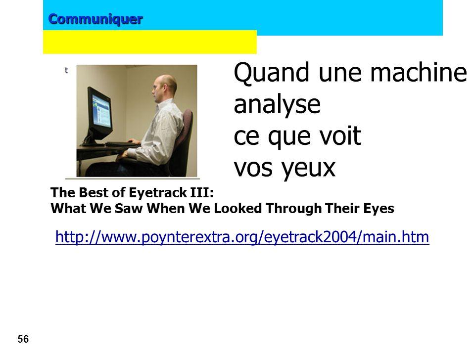 Communiquer 55 Ressources : http://www.usabilis.com http://www.useit.com http://www.axance.com www.axancelog.com www.ergologique.com www.ergolab.net