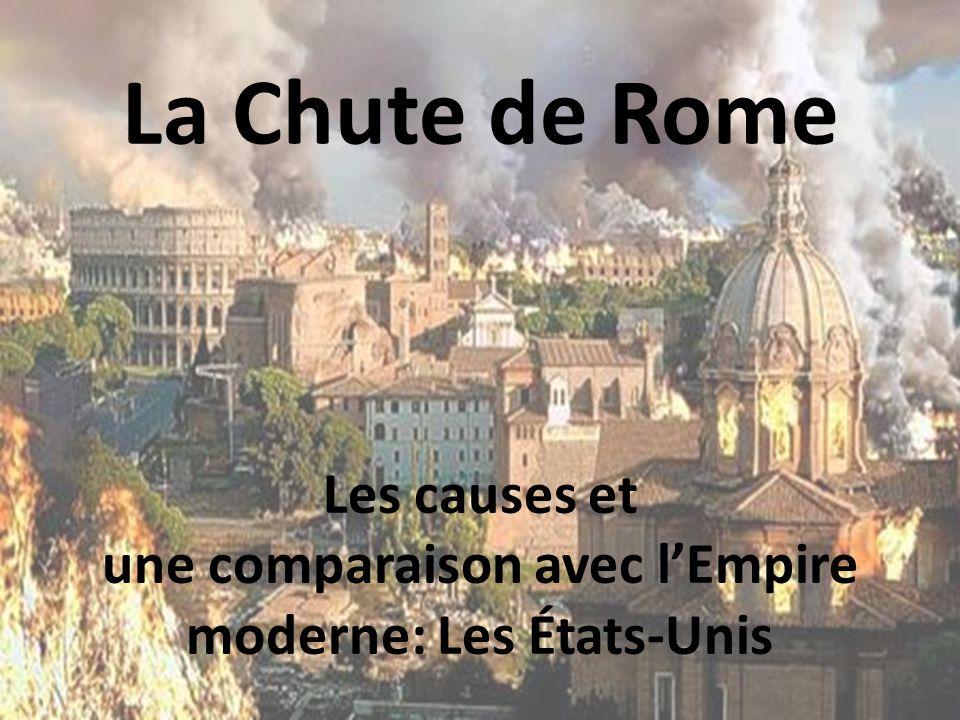 La Chute de Rome Les causes et une comparaison avec l'Empire moderne: Les États-Unis