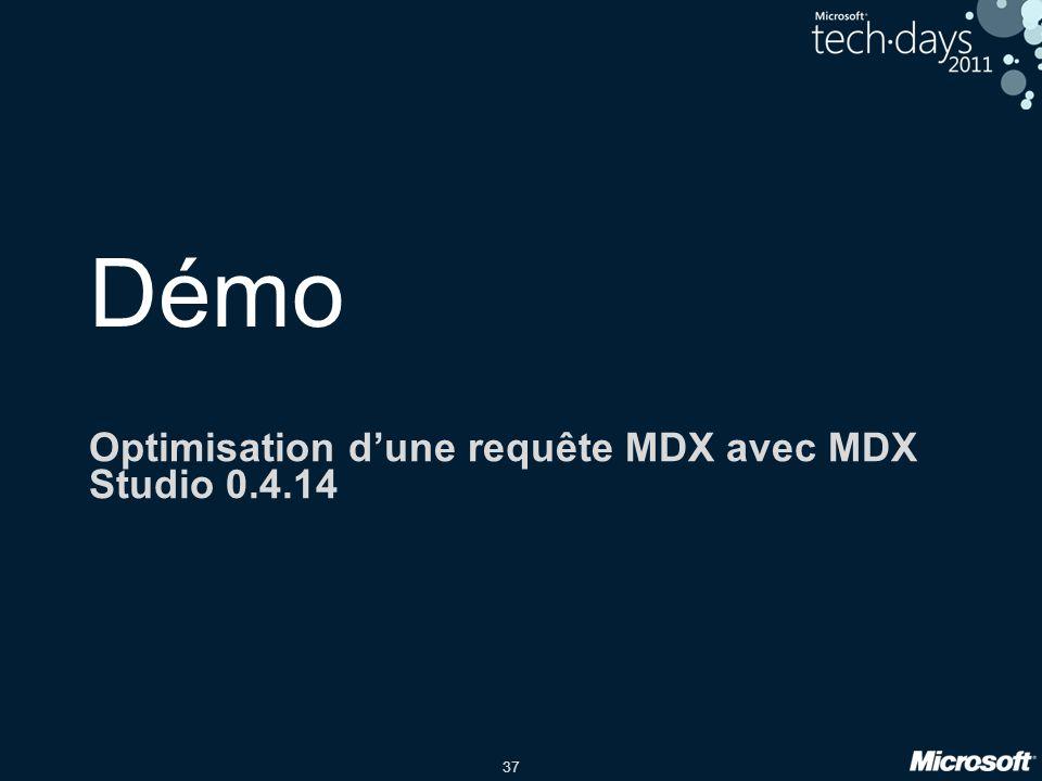 37 Démo Optimisation d'une requête MDX avec MDX Studio 0.4.14