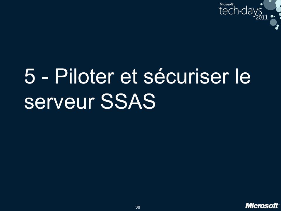 38 5 - Piloter et sécuriser le serveur SSAS