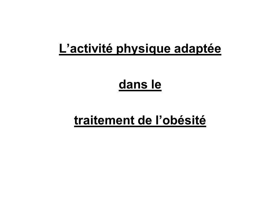L'activité physique adaptée dans le traitement de l'obésité