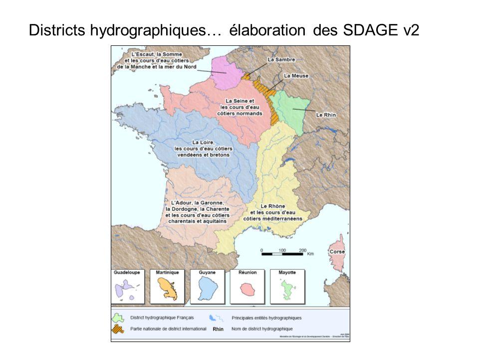 Districts hydrographiques… élaboration des SDAGE v2