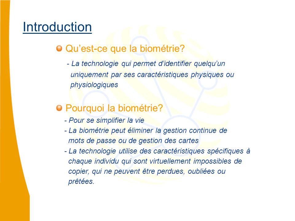 Qu'est-ce que la biométrie.