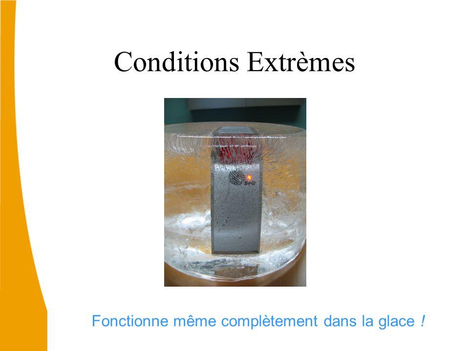 Conditions Extrèmes Fonctionne même complètement dans la glace !