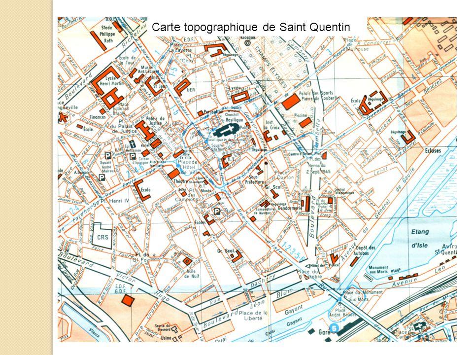 Carte topographique de Saint Quentin