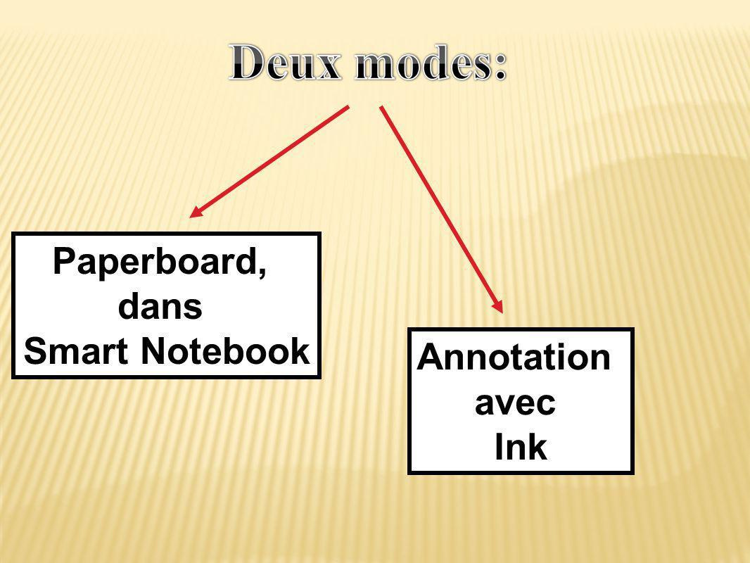 Paperboard, dans Smart Notebook Annotation avec Ink