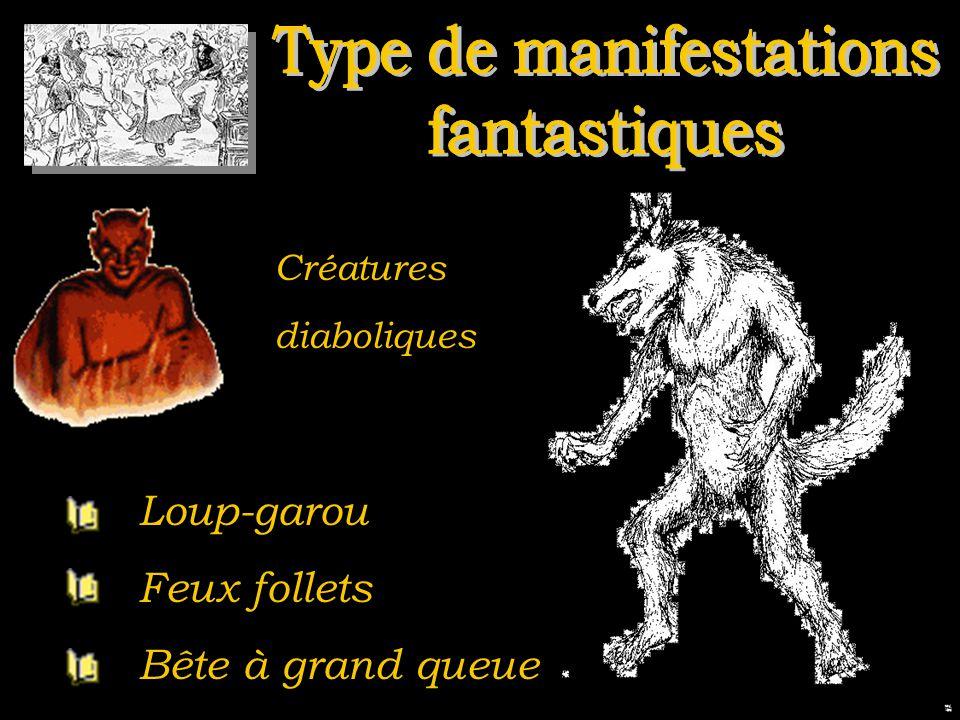 Loup-garou Feux follets Bête à grand queue Créatures diaboliques