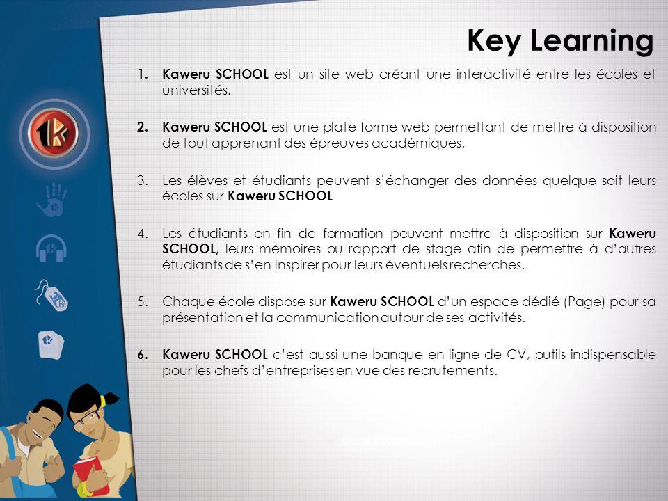 Key Learning 1.