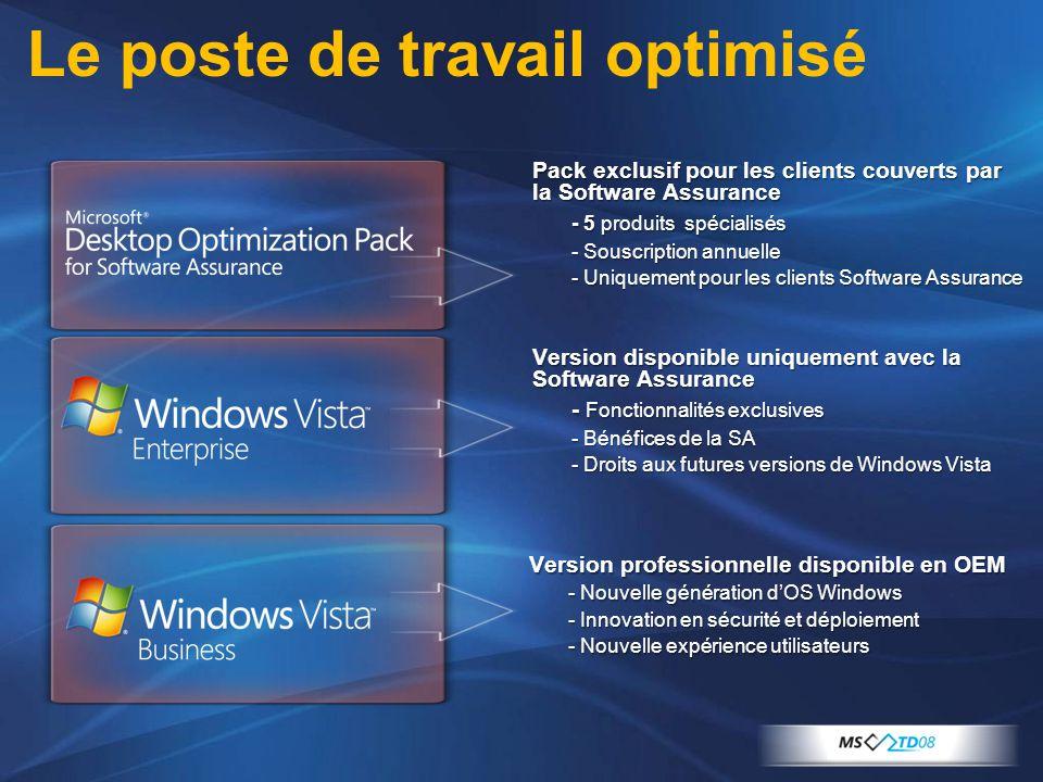 3 Version professionnelle disponible en OEM - Nouvelle génération d'OS Windows - Innovation en sécurité et déploiement - Nouvelle expérience utilisate