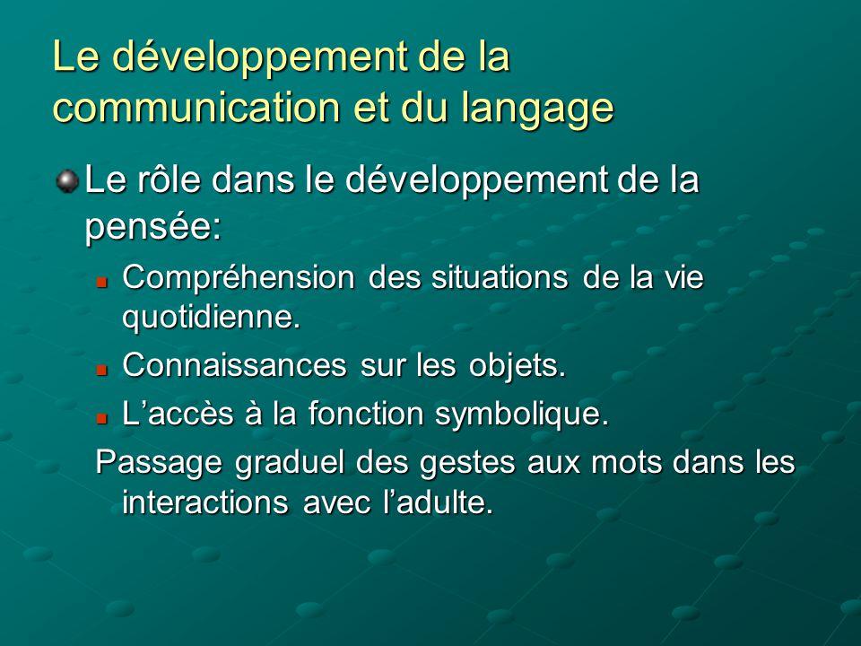 La communication dans les pratiques professionnelles Observation de la communication dans une crèche: 50% des tentatives de communication non prises en compte.