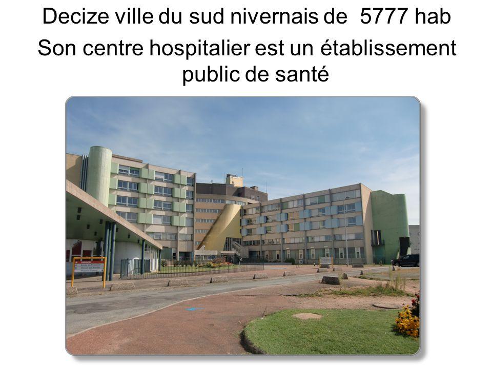 Decize ville du sud nivernais de 5777 hab Son centre hospitalier est un établissement public de santé