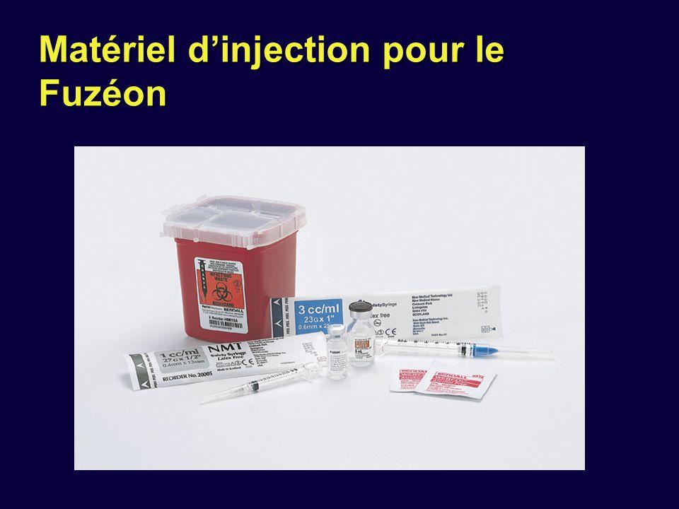 Matériel d'injection pour le Fuzéon