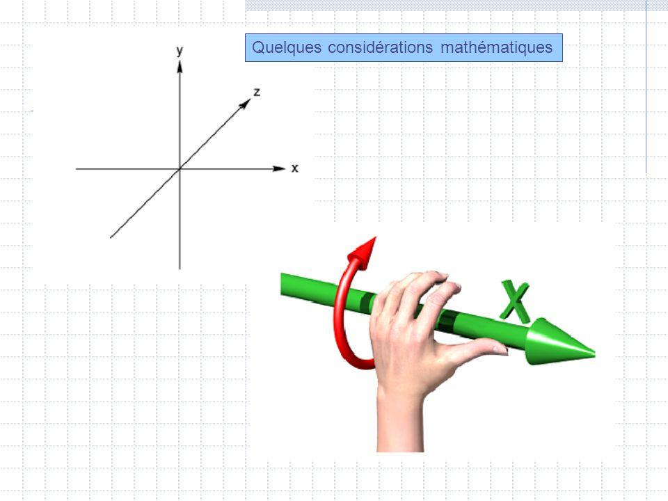 Quelques considérations mathématiques