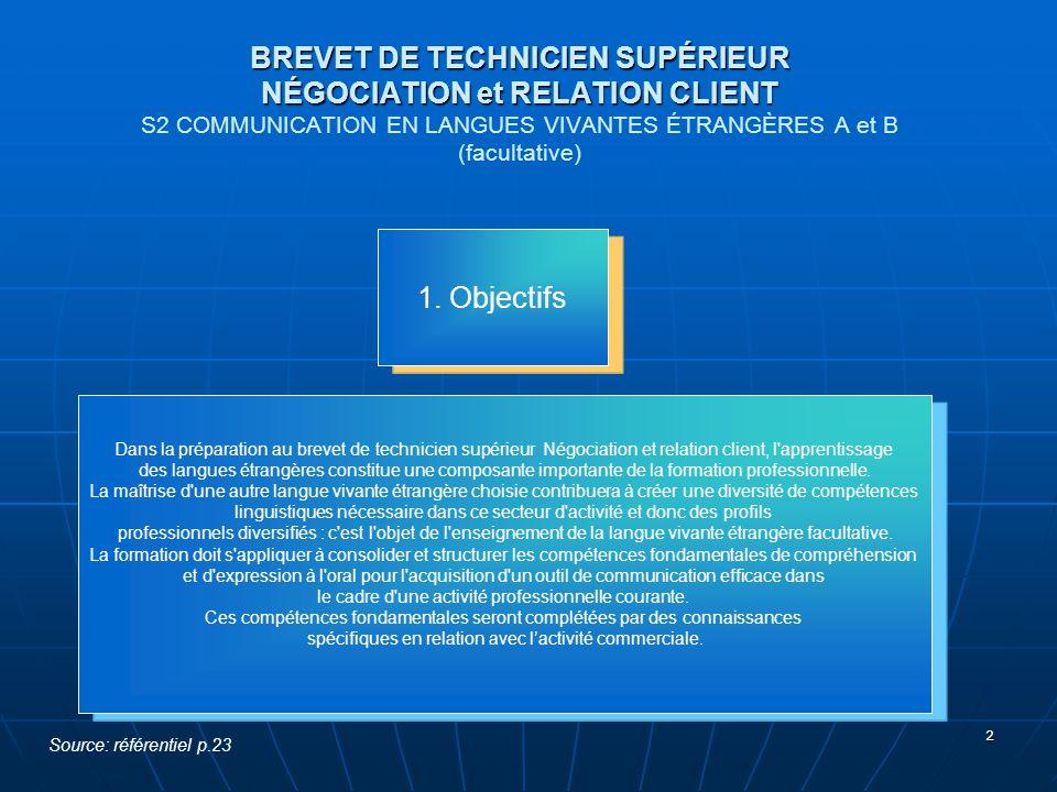 3 BREVET DE TECHNICIEN SUPÉRIEUR NÉGOCIATION et RELATION CLIENT 2.