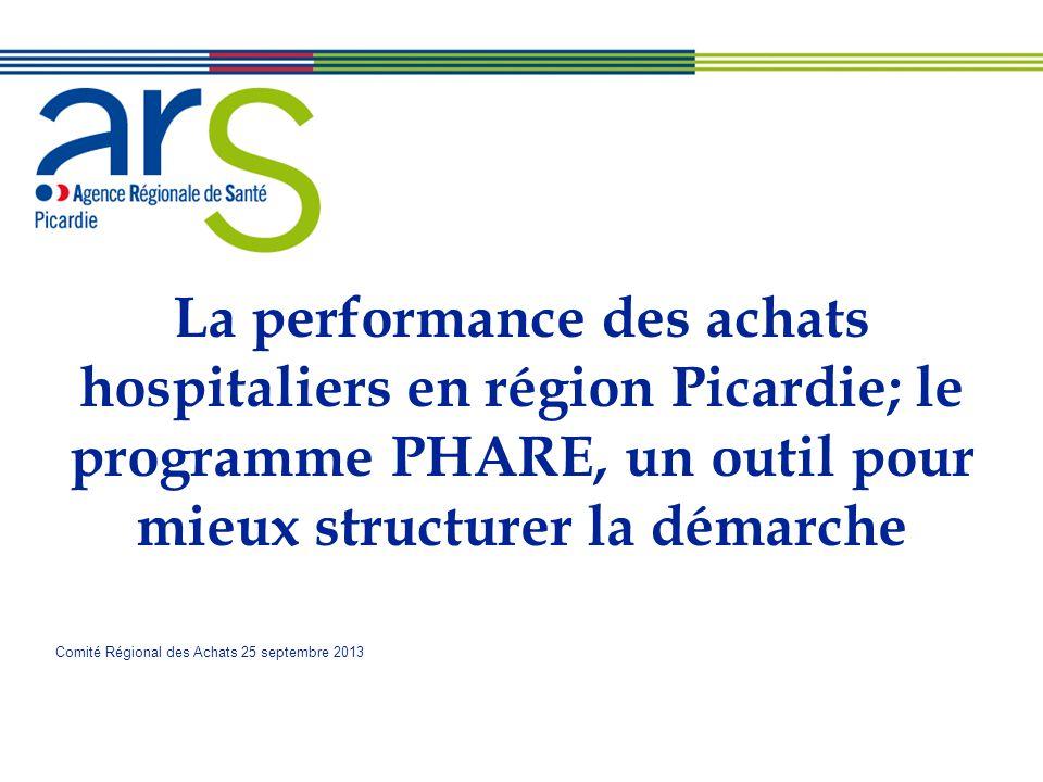 La performance des achats hospitaliers en région Picardie; le programme PHARE, un outil pour mieux structurer la démarche Comité Régional des Achats 2