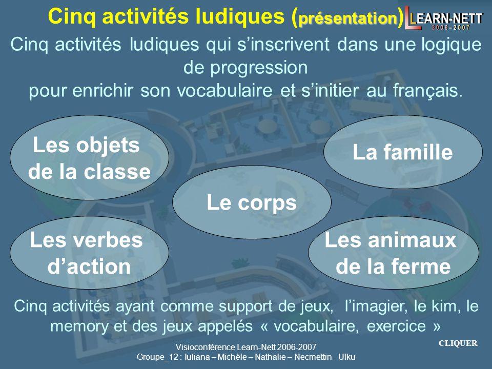 Visioconférence Learn-Nett 2006-2007 Groupe_12 : Iuliana – Michèle – Nathalie – Necmettin - Ulku Apprendre en s'amusant : Une Dynamique de Collaborati