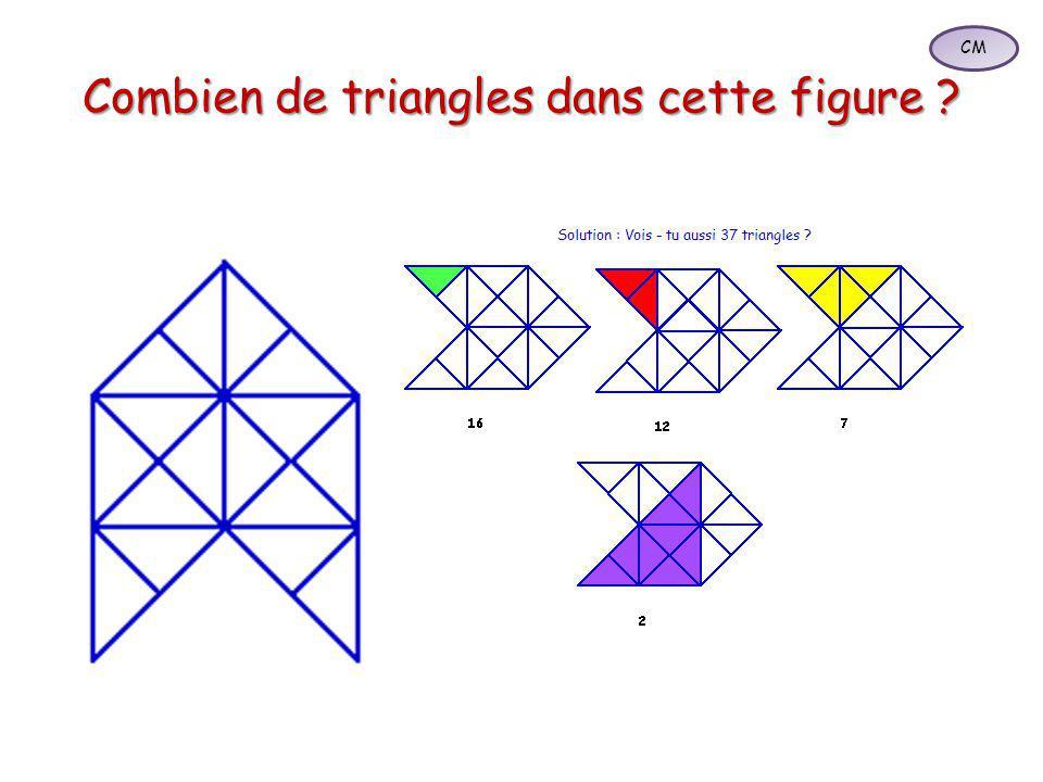 Combien de triangles dans cette figure ? CM