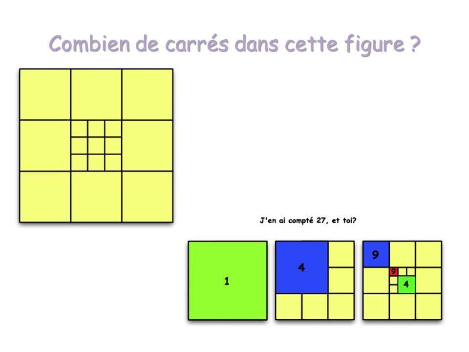 Combien de carrés dans cette figure ?