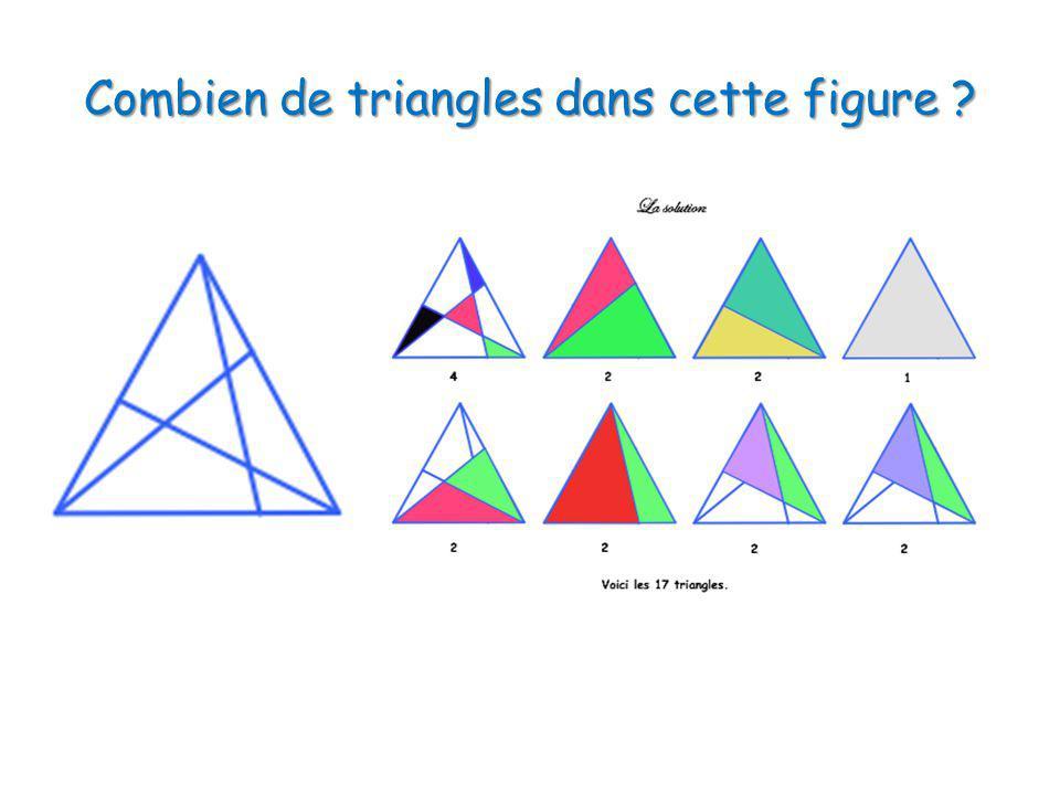 Combien de triangles dans cette figure ?