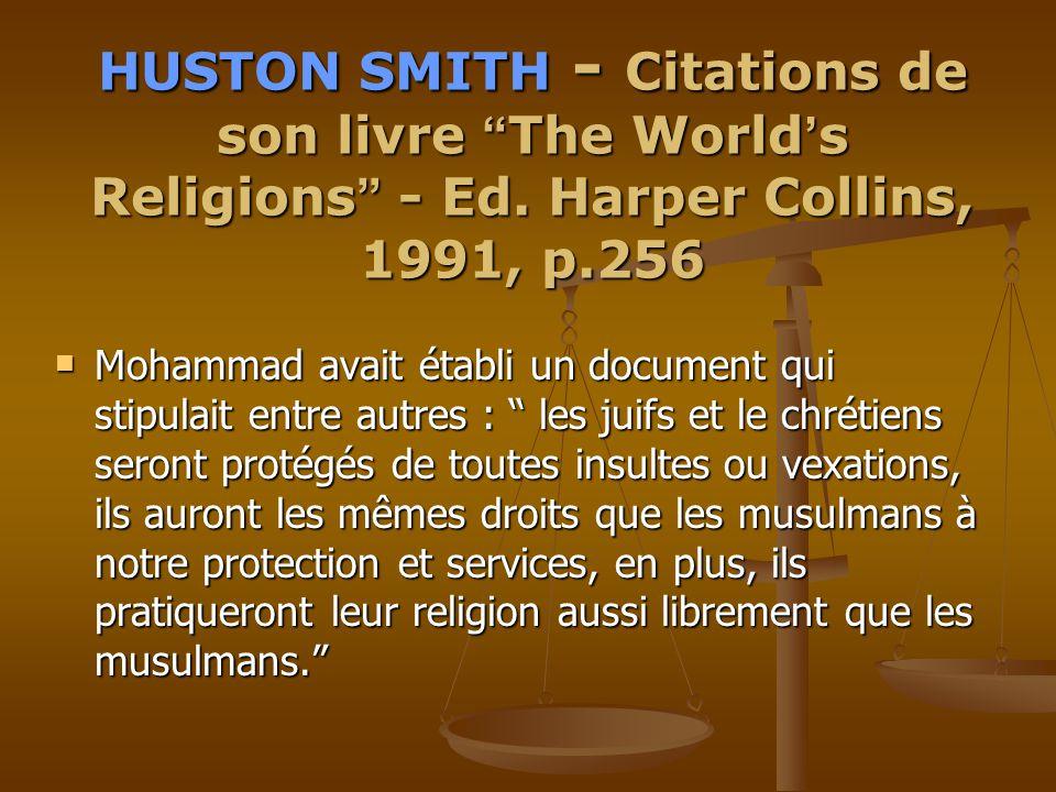 HUSTON HUSTON SMITH SMITH - Citations de son livre The The World ' s Religions Religions - Ed.