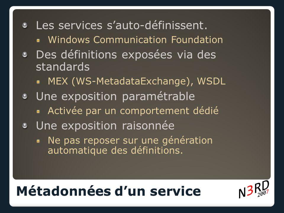 Les services s'auto-définissent.