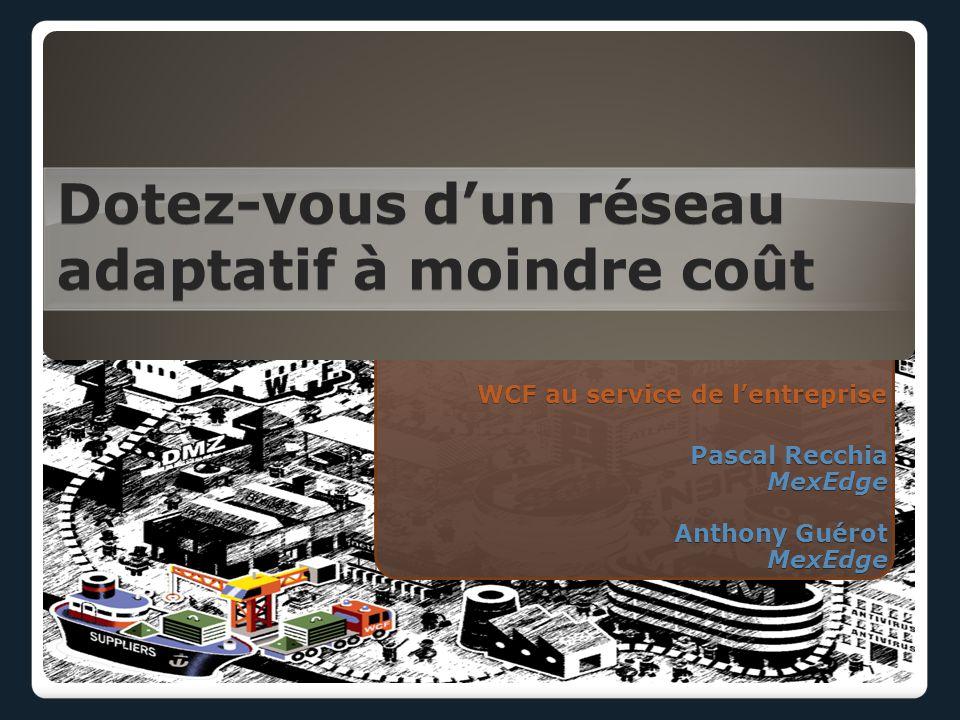WCF au service de l'entreprise Dotez-vous d'un réseau adaptatif à moindre coût Pascal Recchia MexEdge Anthony Guérot MexEdge