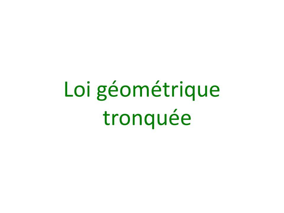 Loi géométrique tronquée