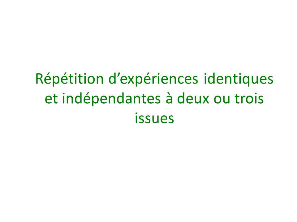 • « En 3 ème et 2 nde on s 'est intéressé à la succession de deux expériences (éventuellement trois) pas nécessairement identiques.