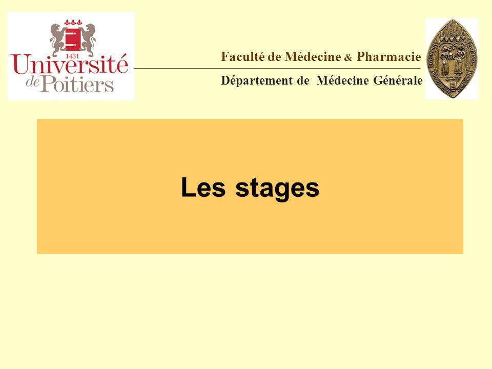 PAUSE 15' Faculté de Médecine & Pharmacie Département de Médecine Générale