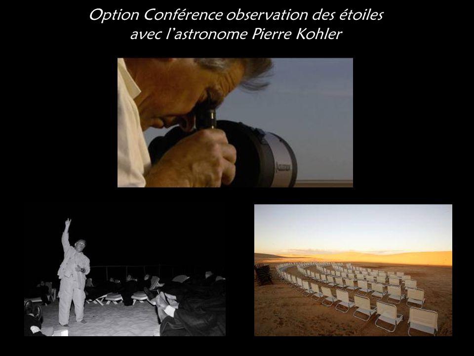 Option Conférence observation des étoiles avec l'astronome Pierre Kohler