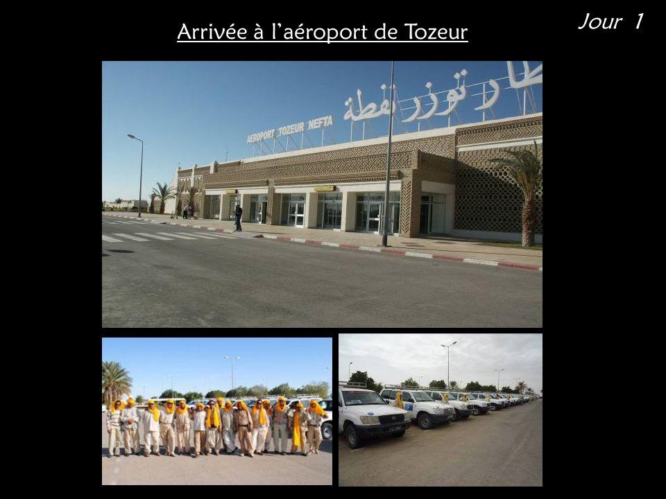 Arrivée à l'aéroport de Tozeur Jour 1