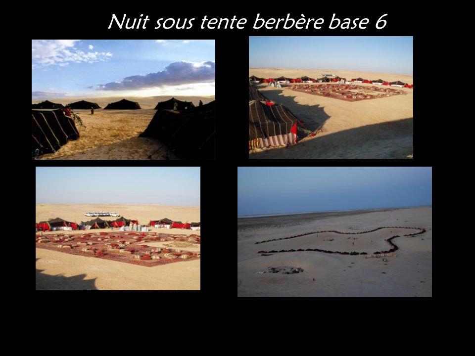 Nuit sous tente berbère base 6