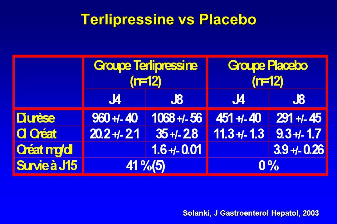 Terlipressine Hadengue, J Hepatol, 1998 Uriz, J Hepatol, 2000 Solanki, J Gastroenterol Hepatol, 2003 Hadengue, J Hepatol, 1998 Ganne-Carrie, Dig Dis S