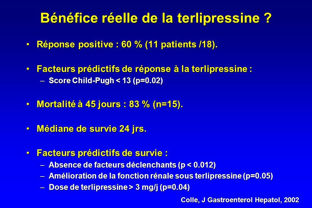 Terlipressine vs Placebo Solanki, J Gastroenterol Hepatol, 2003