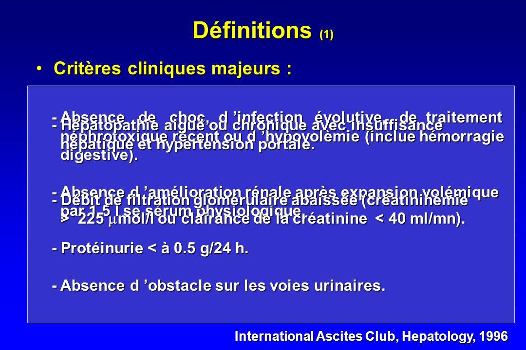 Syndrome hépato-rénal Dr Hervé HYVERNAT Service de Réanimation médicale
