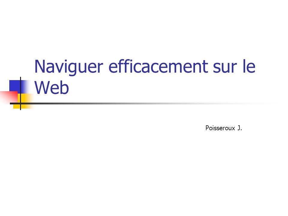 Naviguer efficacement sur le Web Poisseroux J.