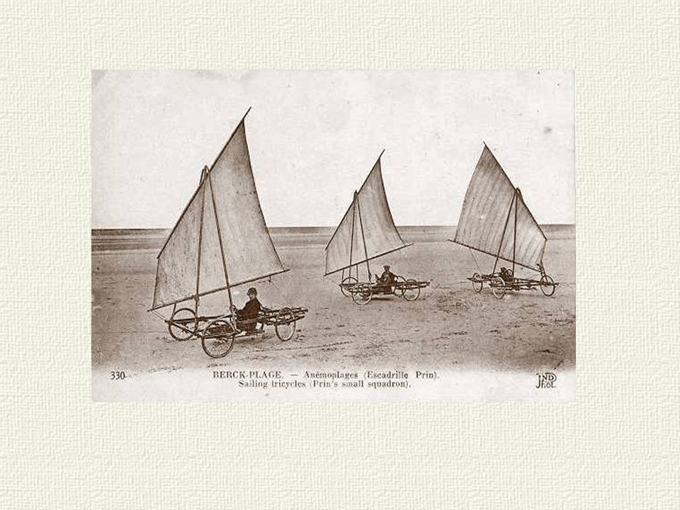 Aéroplage: Sorte d automobile à voile, roulant sur la plage et allant parfois à une vitesse vertigineuse.