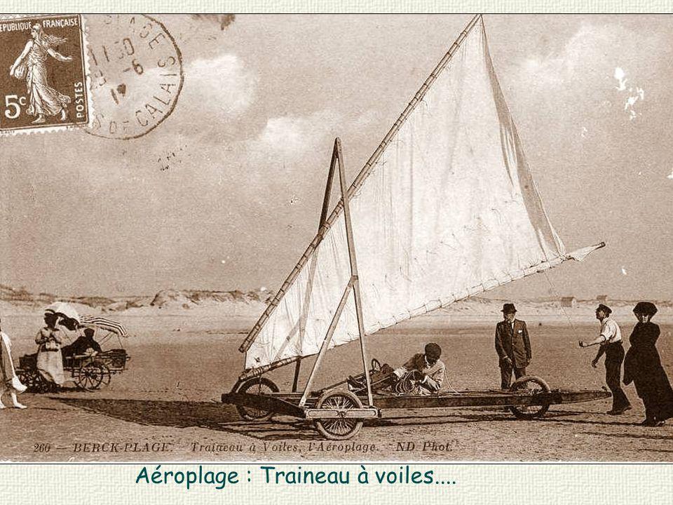 Aéroplage : Traineau à voiles....