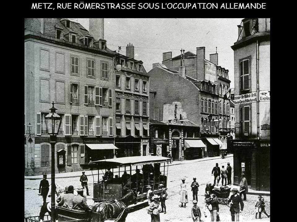 ESPLANADE A METZ, 1914, DÉFILÉ DE SOLDATS ALLEMANDS
