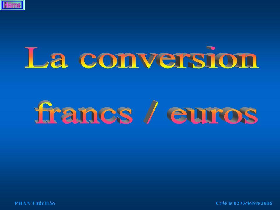 /* Prog 2.3 : Formule de politesse */ #include int main() { int response; char c; do{ printf( \nComment allez-vous \n\n1 = Bien, 2 = mal : ); scanf( %d ,&response); if (response == 1) { printf( \n\nJe suis vraiment ravi !!!\n ); } else printf( \n\nOh, je suis desole.\n ); fflush (stdin);// vider le tampon de lecture scanf do{ printf( \nUne autre saisie...(o/n) ); c=getchar(); }while(c!= o &&c!= O &&c!= n &&c!= N ); printf( \n );//saut ligne }while(c!= n &&c!= N ); puts( \nPour sortir, appuyez une touche ); getch(); } PHAN Thúc HàoCréé le 02 Octobre 2006