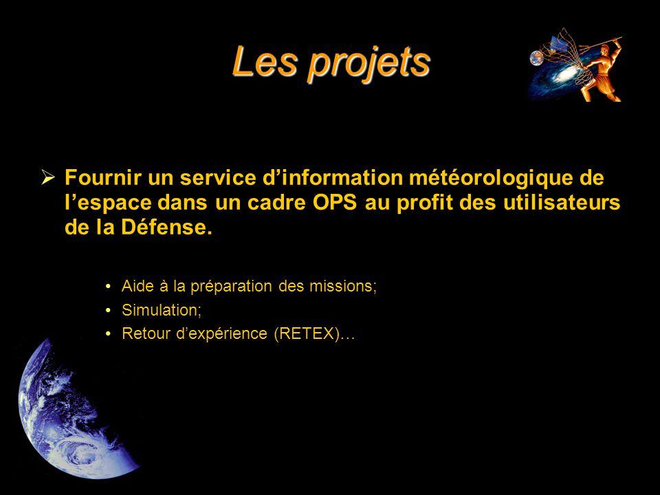  Fournir un service d'information météorologique de l'espace dans un cadre OPS au profit des utilisateurs de la Défense.