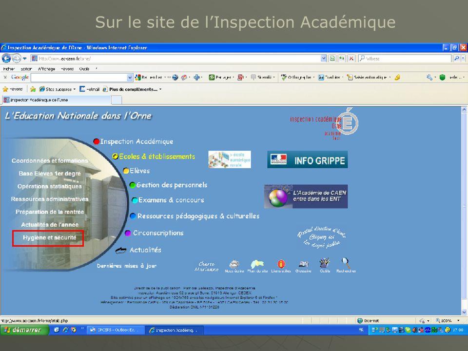 Sur le site de l'Inspection Académique