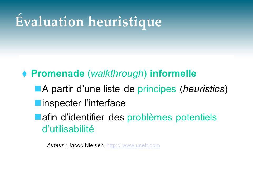 Cognitive Walkthrough  Exemple d'utilisation David G.
